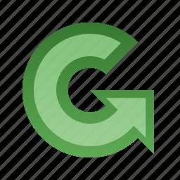 anticlockwise, arrow, rotate icon