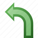 arrow, left, turn