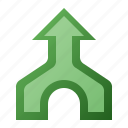 arrow, join, merge, up icon