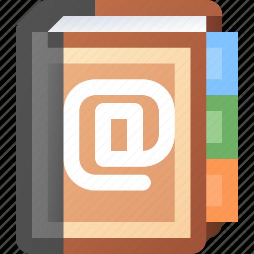 addresses, book icon