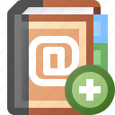 add, addresses, book icon