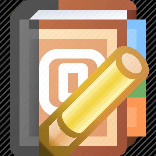addresses, book, edit icon