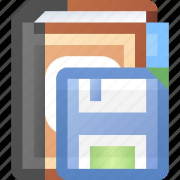 addresses, book, save icon