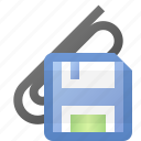 attach, attachment, save icon