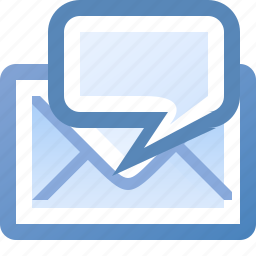 comment, email icon