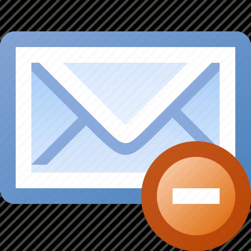 delete, email icon