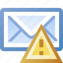 alert, email, error, warning icon