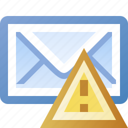 alert, email, error, warning icon