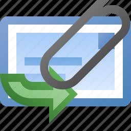 attachment, email, forward icon