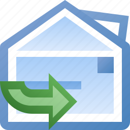 email, forward, inline icon