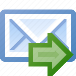 email, go, send icon
