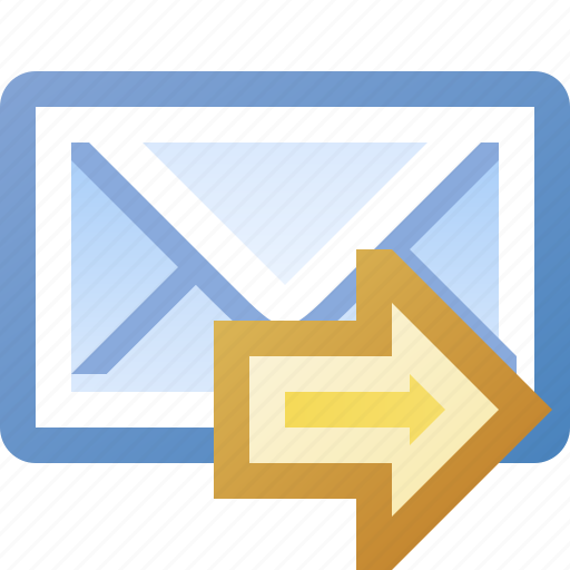 email, go, send, yellow icon