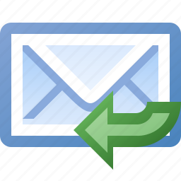 email, reply icon