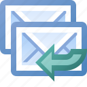 all, email, reply icon