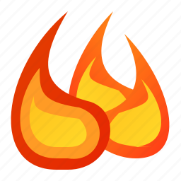 fire, flame, junk icon
