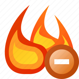 delete, fire, flame, junk icon