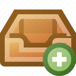 add, inbox icon