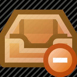 delete, inbox icon