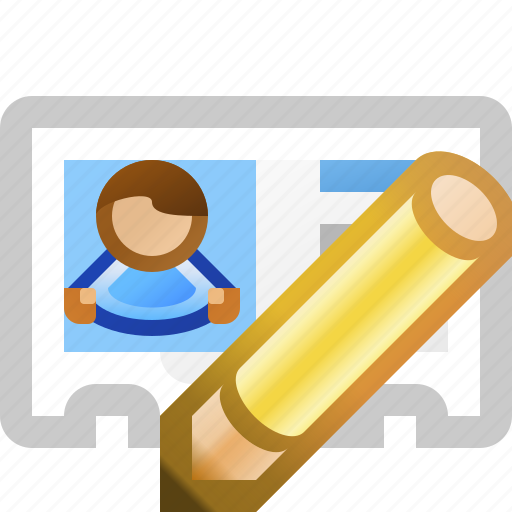 edit, vcard icon