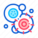 cancerous, cell, pathogen, stem icon