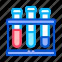 analysis, flask, pathogen icon