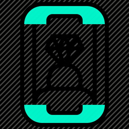 Diamond, gem, jewel, ring, valuable icon - Download on Iconfinder