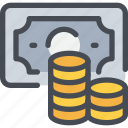 bank, business, coin, money, payment icon