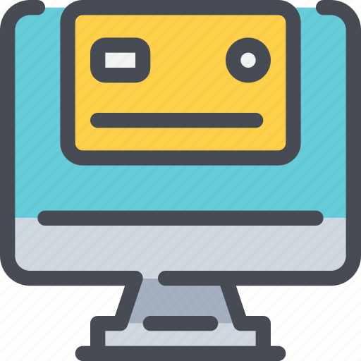 business, computer, credit card, payment, shopping icon