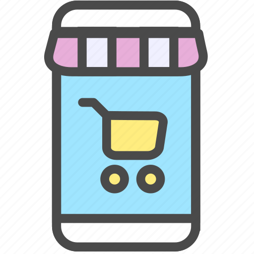 ecommerce, mobile, shopping, store icon