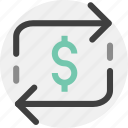 exchange, exchange rate, transaction icon