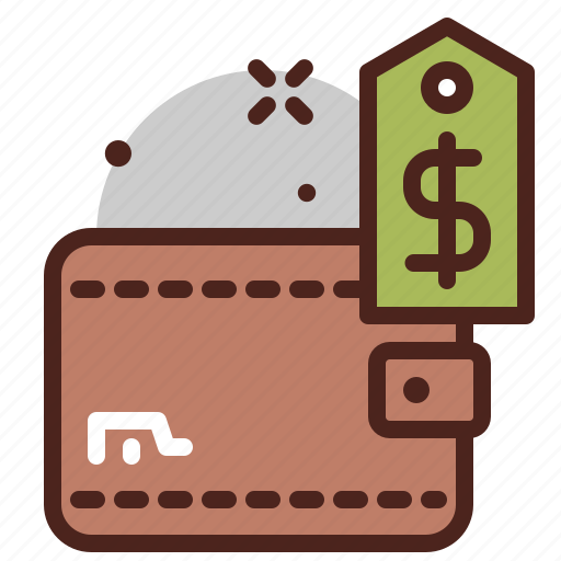 cash, money, tag, wallet icon