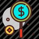 cash, money, pay, zoom icon