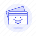 magnetic, payment, credit, smiley, stripe, card icon