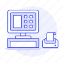 closed, processing, point, payment, pos, cashier, sale icon