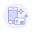 card, credit, debit, digital, payment, phone, smartphone, star, with icon
