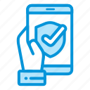 electronic, mobile, payment, protection icon