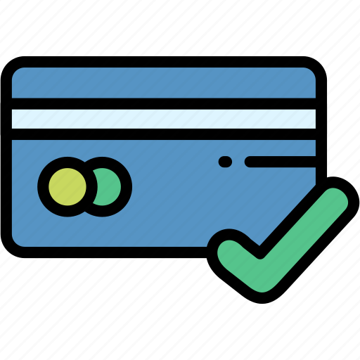 accepted, card, electronic, payment icon