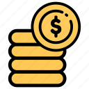 coin, electronic, payment icon