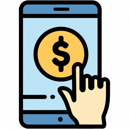 electronic, mobile, money, payment icon