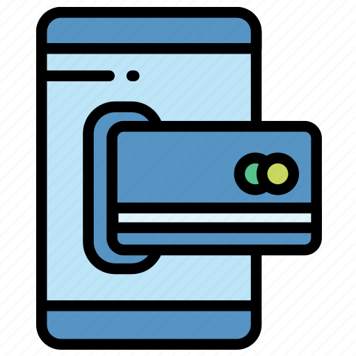 card, electronic, mobile, payment icon