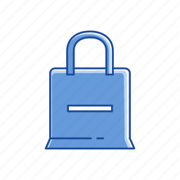 bag, online shop, remove item, shopping bag icon