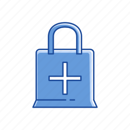 add, add to bag, online shopping, shopping bag icon