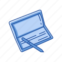 bank book, bank check, check, pay check icon