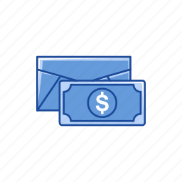 cash, dollar, envelope, money icon