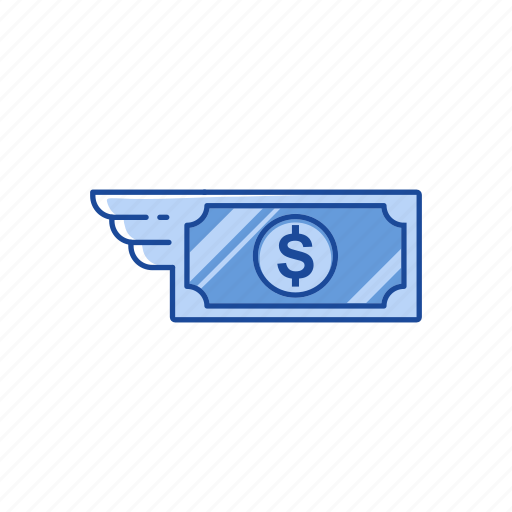 currency, dollar, money, sending money icon