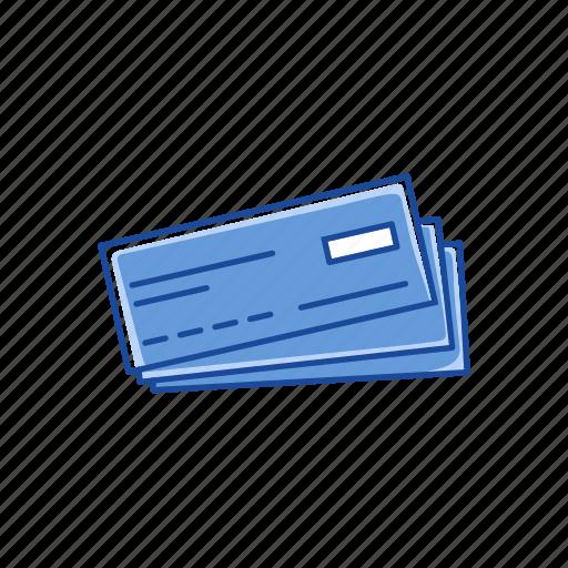 bank, blank check, check, check book icon
