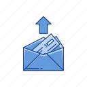 arrow, payment send, send mail, sending money icon