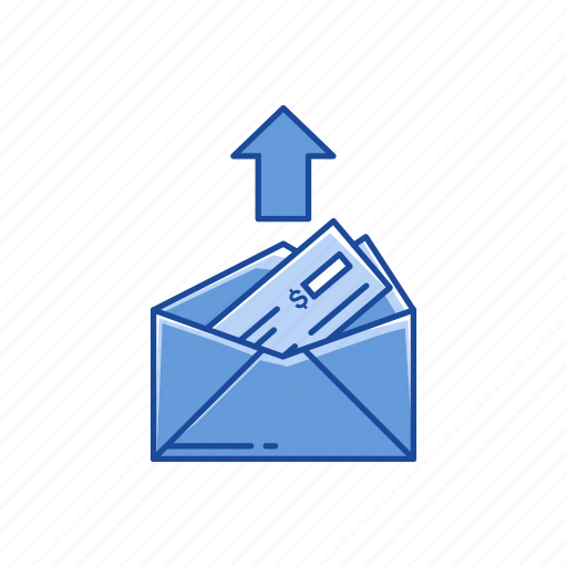 arrow, payment send, send mail, sending money icon