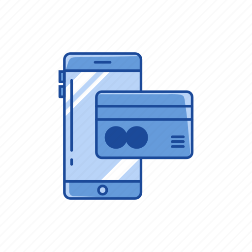 card, credit card, mobile payment, online payment icon