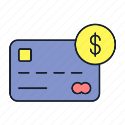 credit card, debit card, dollar, master card, money, payment, transaction icon